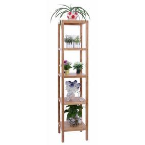 Anaquel Repisas Estante De Madera Bambú 5 Niveles 146x33x33