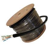 Cable Utp Cat 6 Exterior Para Camaras Y Redes * 305 Mts