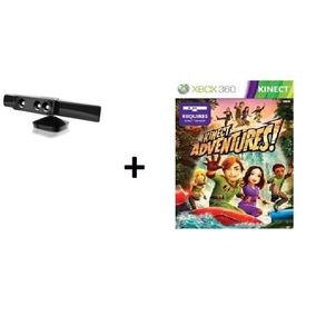 Sensor Kinect Xbox 360+jogo Adventures E Fonte Original+capa