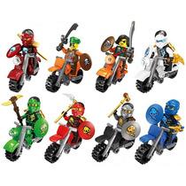 Genial Set 8 Motocicletas De Ninjago Compatible Con Lego