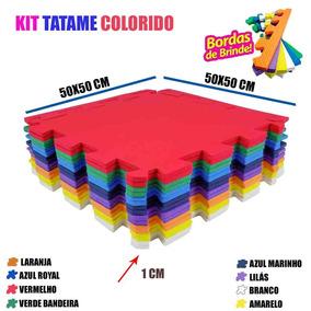 Kit 16 Un Tatame De Eva Piso Quarto Infantil Bebê 50x50 10mm