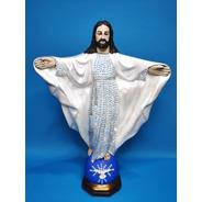 Jesus Cristo Em Gesso - 40cm