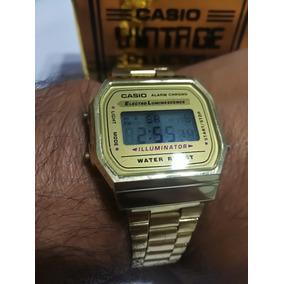 Reloj Casio Dorado A168 De Envió Gratis.