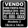 Plotter Sticker Calco Vinilo Cartel Vendo Auto X 1 Unidad