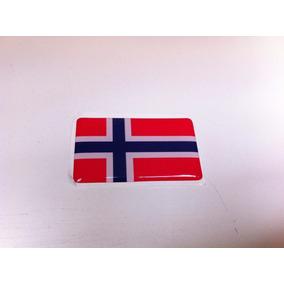 Adesivo Resinado Da Bandeira Da Noruega 5 Cm Por 3 Cm