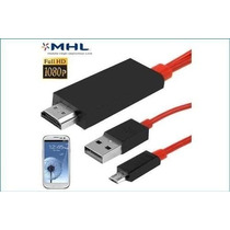 Cable Adaptador Mhl Hdmi Samsung Galaxy S3 S4 Note 2 Tv Hd