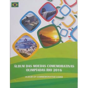 07 Álbuns Para Coleção De Moedas De 1 Real Olimpíadas Vazio