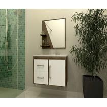 Gabinete Armário Para Banheiro Com Pia Madri Branco_avelã