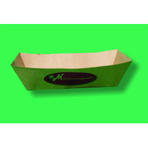 Charola De Carton Para Hot Dog Y Hamburguesas