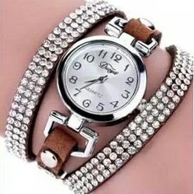 Relógio Feminino Strass Marrom
