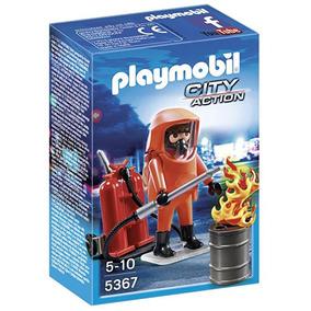 Playmobil Fuerzas Especiales Bombero Conjunto
