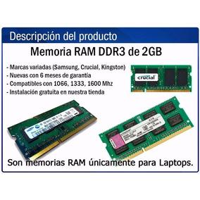 Memoria Ram Ddr3 2gb 1333 Ghz Para Laptop