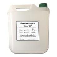 Glicerina Vegetal Líquida 5 Lt. Para Cremas, Lociones Etc.