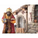 Presépio Luxo 30cm Reis Magos 11 Pçs Resina Decoração Natal