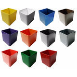 Matero Maceta Decorativo Plástico (cuadrado)