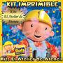 Kit Imprimible Bob El Constructor - Invitaciones Y Mas