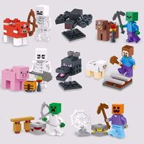 Minecraft Set Completo X 8 Mini Figuras - Lele - Excelente!