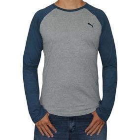 Camiseta Raglan Manga Longa Puma Baseball Tee - Oferta
