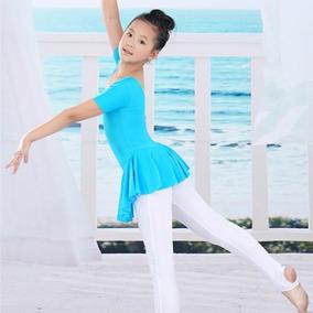 Leotardo Vestido Falda Niña Talla 8 Gimnasia Patinaje Ballet