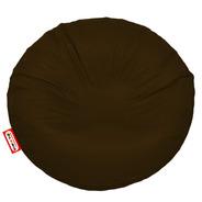 Sillon Puff Circular Grande Chocolate Soporta Hasta 115 Kg