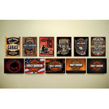 Carteles Bar Decoración Harley Davidson Hd Colección