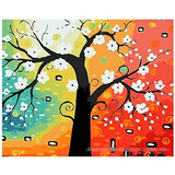 Diy Pintura Al Óleo, Pintura Por Número Kit- Árbol Abstract