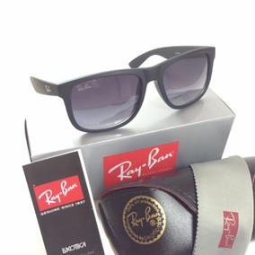 Oculos Masculino Rb 4165 Justin Prata Quadrado Polarizado