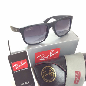 Oculos Masculino Ray Ban Justin Prata Quadrado Polarizado
