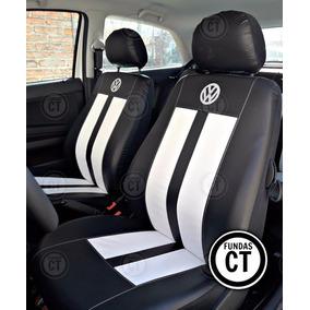 Fundas Asiento Simil Cuero Logo Bordado Volkswagen Gol Trend