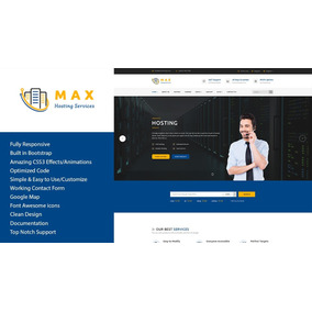 Max Hosting - Template Html5