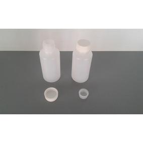 100 Pzas De Botella Plástico De 60 Ml Con Tapa E Inserto