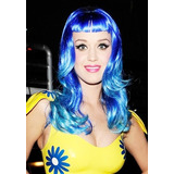 Peruca Adulto Katy Perry Azul