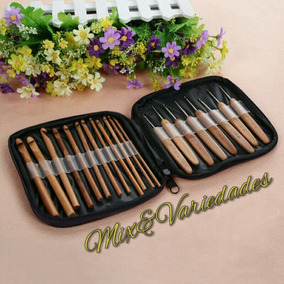 Kit Agulhas De Croche Bambu 20un Com Case *pronta Entrega*