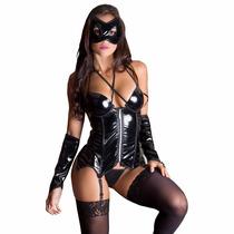 Fantasia Erótica Espartilho Mulher Aranha Sexy