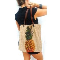 Bolsa Sacola Fashion Feminino Abacaxi Estilo Animale Osklen