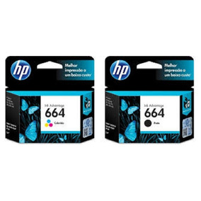 Cartuchos Hp (664) F6v28al Color Y F6v29al Negro 02/2018