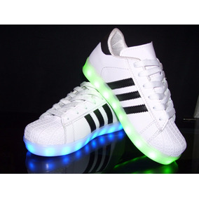 Zapato Tenis Led Luminosos Super Star