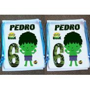 Kit Com 50 Mochilinhas Ecobag Sacochila Vingadores Hulk