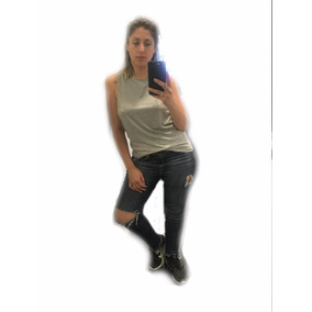Musculosa Modal Mujer Escote Espalda Remera Envio Gratis