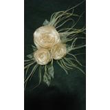 Arranjo De Noiva Flores De Tecido