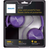 Fone Headphone Philips Dj Roxo Shl3060 P2 Mp3 Pc Cabo 1,2m