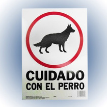 Letrero Cuidado Con El Perro 25x36 Cm. Hy-ko