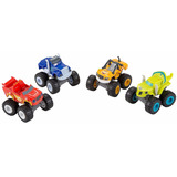 Fisher Price Blaze Y Los Monster Machine Set 4 Vehiculos