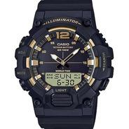 Relogio Casio Hdc-700-9avdf Analogico Digital Preto E Dourad