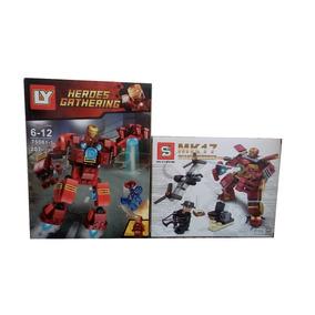 Kit C/2 Homem De Ferro Vingadores 368 Peça Compatível Barato
