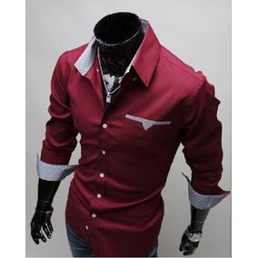 Camisa Social Slim Fit Estilo Ocidental Frete Grátis P/ 2 Un