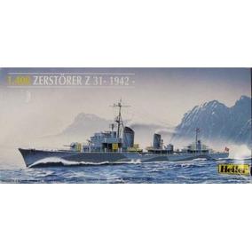 Barco Zerstorer Z31 1942 Maquetas Para Armar Heller Escala