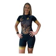 Macaquinho Ciclismo Feminino Gold Mc