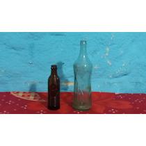 Antiguo 2 Botellas Crush Precio X Todo Tal Cual Foto