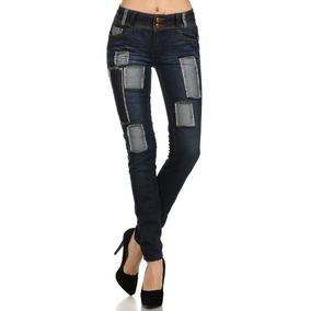 Pantalon Jeans Con Parches Marca Watch L.a.